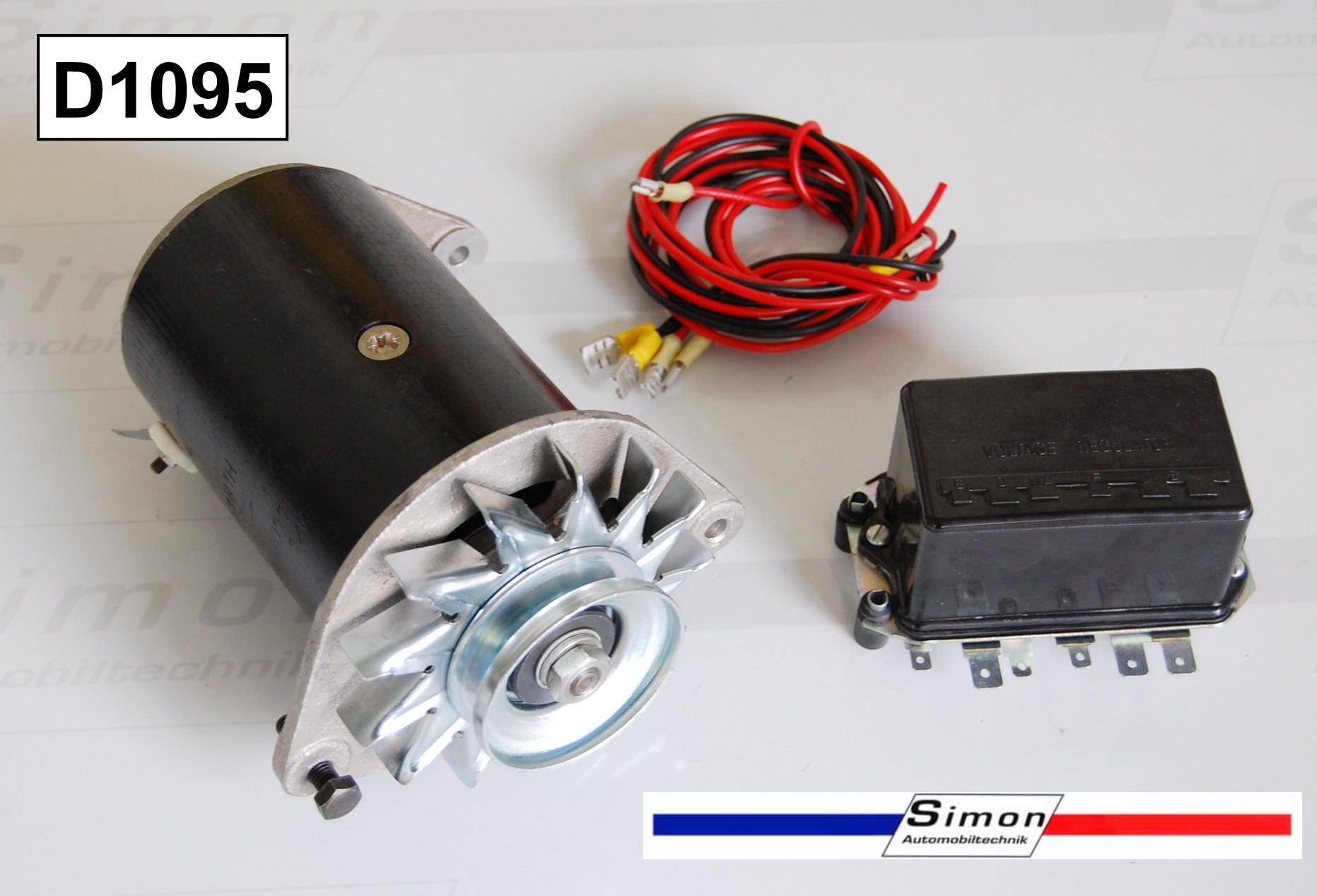 Generator Gleichstrom 12V 22A mit Regler